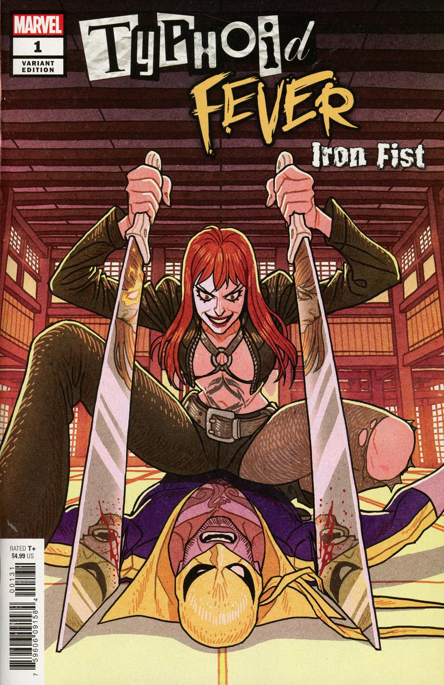 Typhoid Fever Iron Fist #1 Cover C Incentive Afu Chan Variant Cover