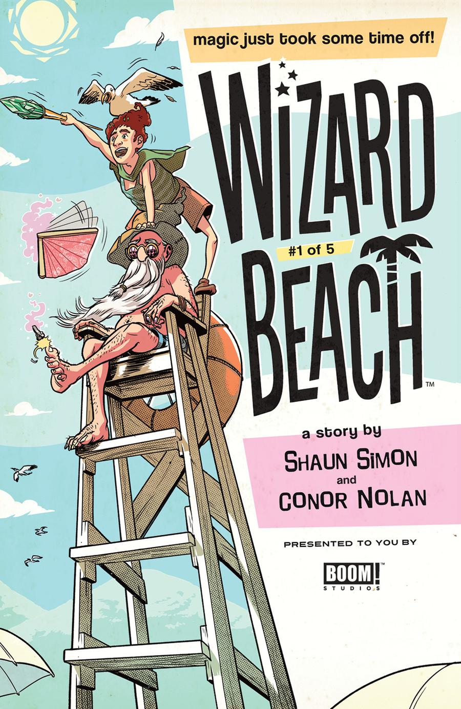 Wizard Beach #1 Cover B Variant George Schall Cover