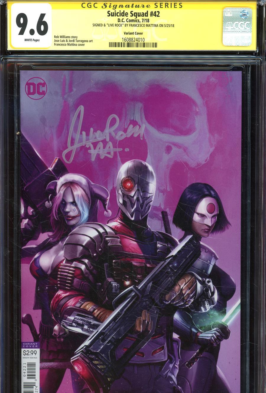 Suicide Squad Vol 4 #42 Cover C Variant Francesco Mattina Cover Signed By Franceco Mattina CGC 9.6