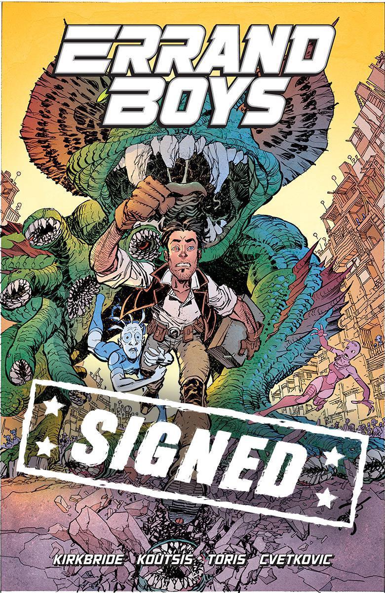 Errand Boys #1 Cover D Variant Erik Larsen Cover Signed By Nikos Koutsis