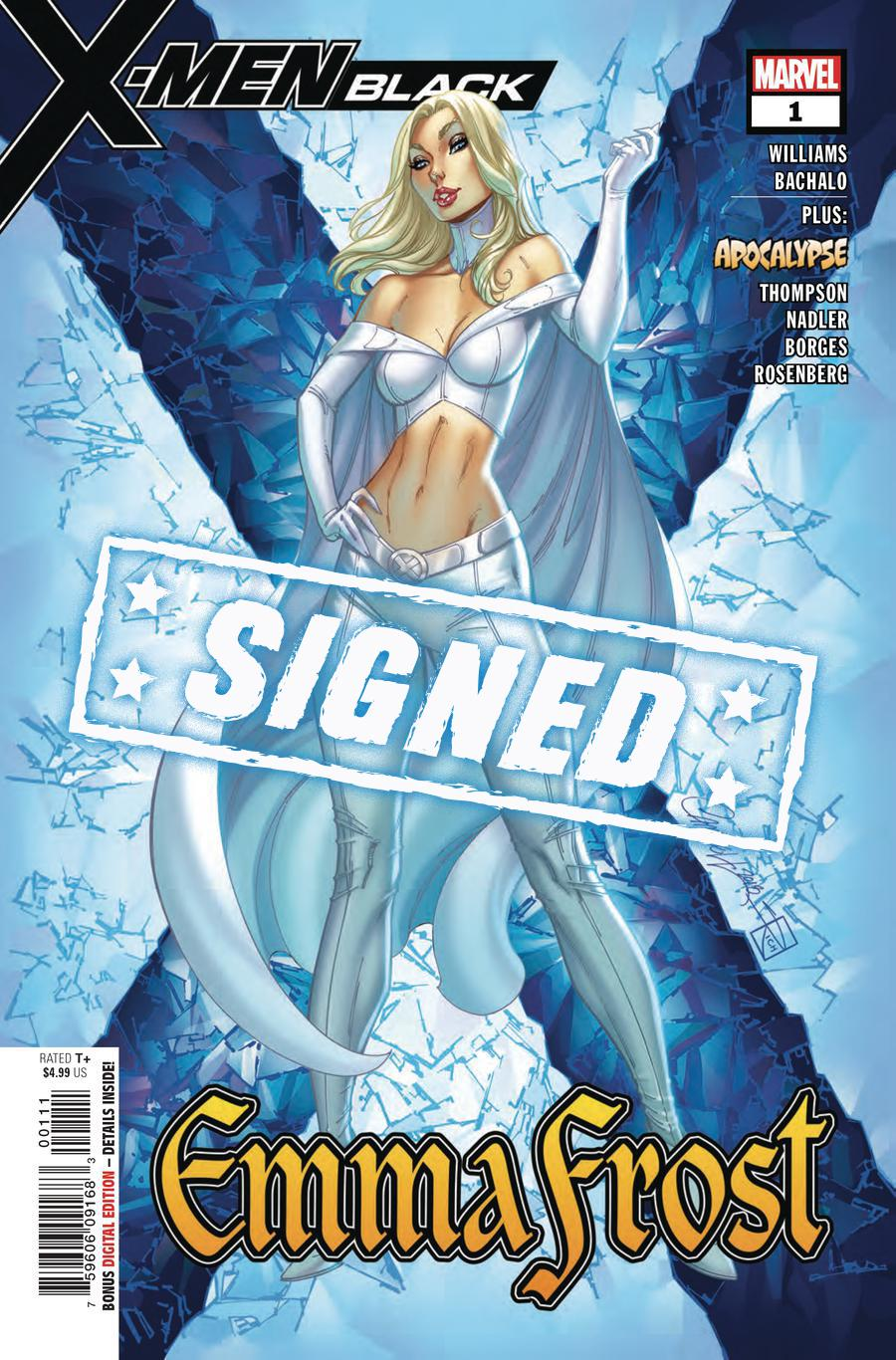 X-Men Black Emma Frost #1 Cover E Regular J Scott Campbell Cover Signed By Leah Williams