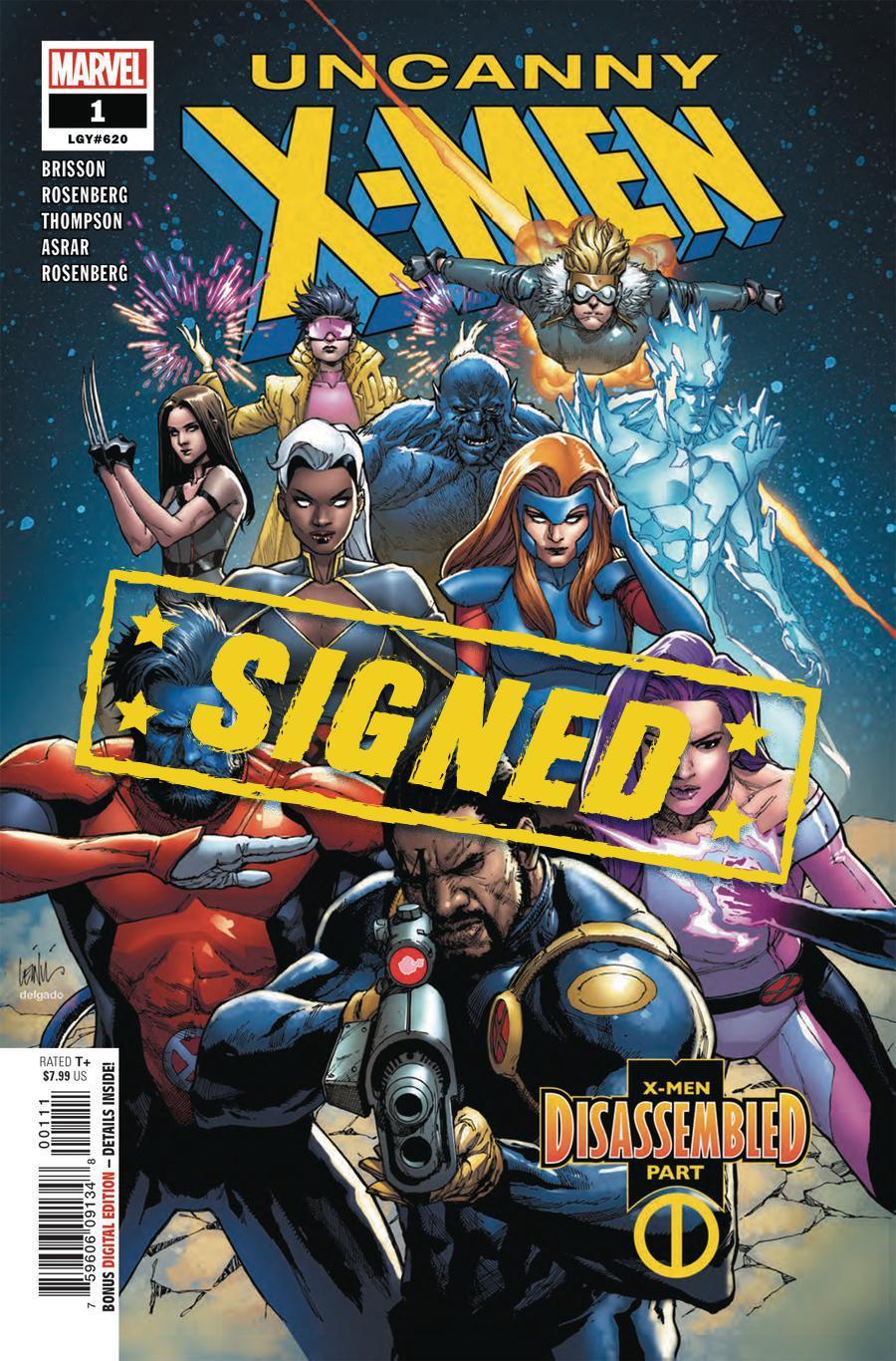 Uncanny X-Men Vol 5 #1 Cover W Regular Leinil Francis Yu Cover Signed By Kelly Thompson