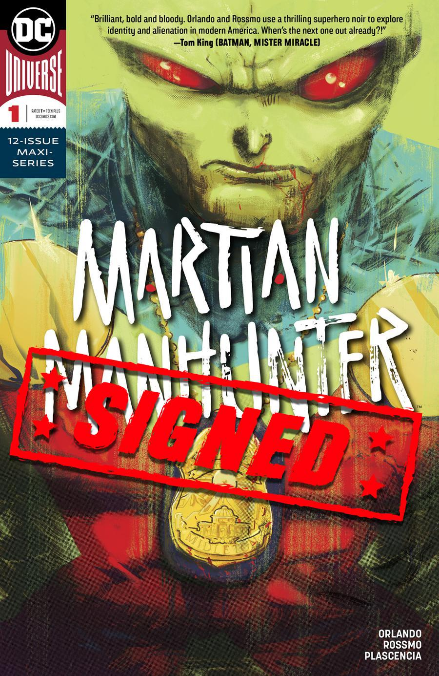 Martian Manhunter Vol 5 #1 Cover D Regular Riley Rossmo Cover Signed By Steve Orlando