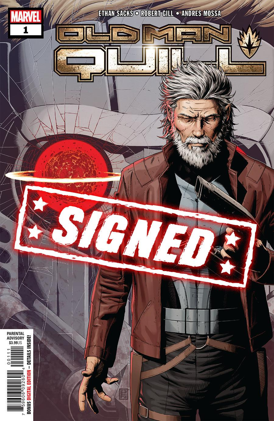 Old Man Quill #1 Cover G Regular John Tyler Christopher Cover Signed By Ethan Sacks