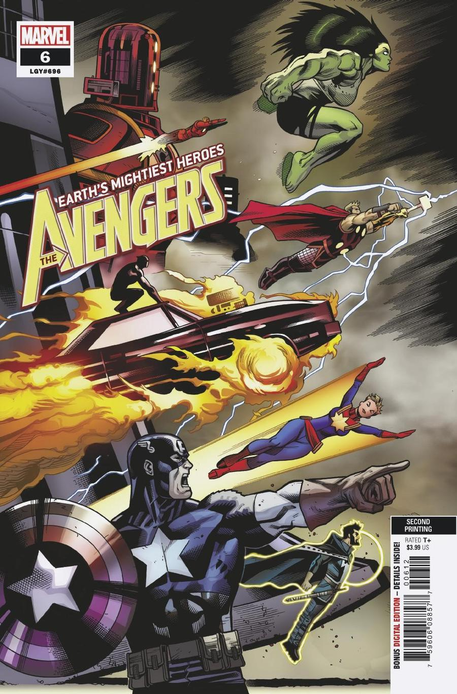 Avengers Vol 7 #6 Cover C 2nd Ptg Ed McGuinness Variant Cover