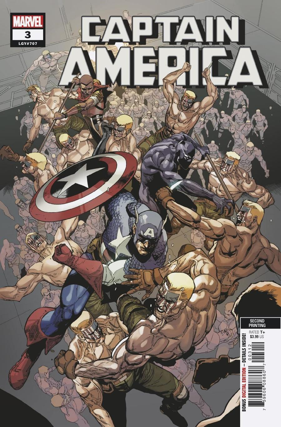 Captain America Vol 9 #3 Cover E 2nd Ptg Leinil Francis Yu Variant Cover