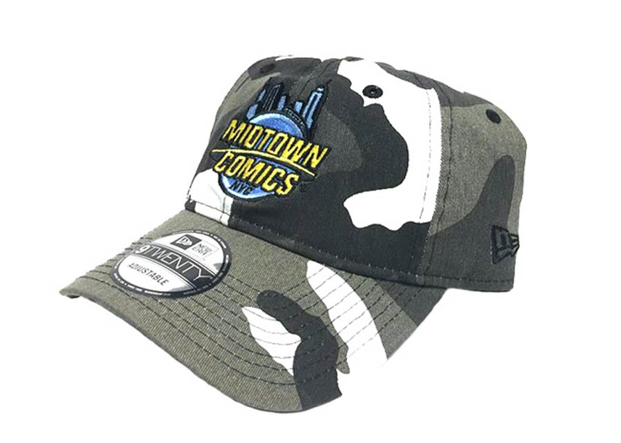 Midtown Comics Logo Urban Camo 920 Buckle Strap Cap Powered By New Era