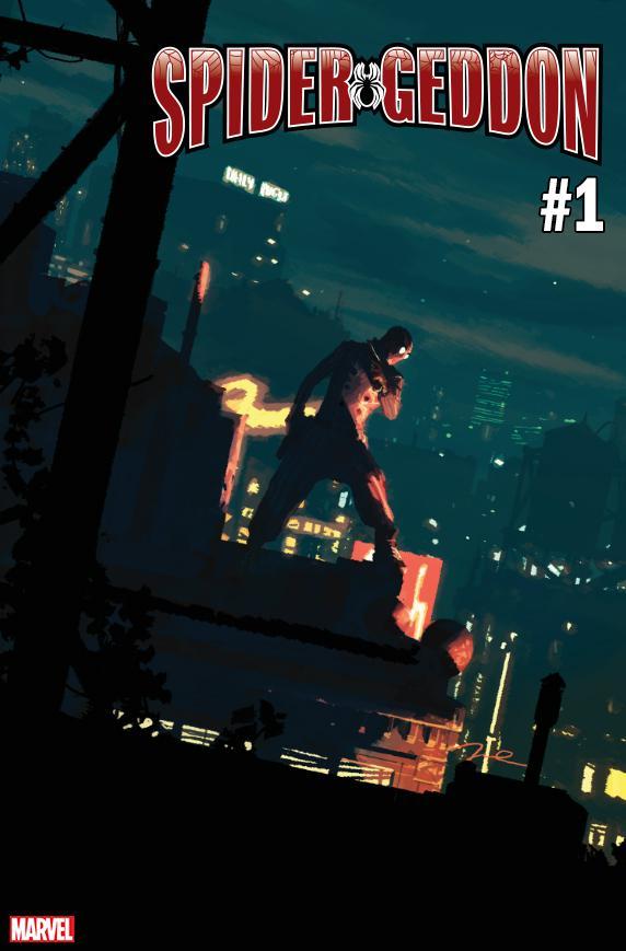 Spider-Geddon #1 Cover J Variant Gerald Parel Spider-Man Noir Cover