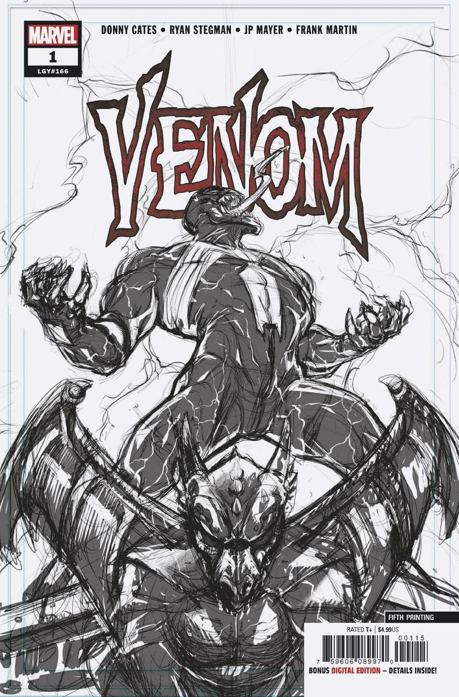 Venom Vol 4 #1 Cover R 5th Ptg Variant Ryan Stegman Cover