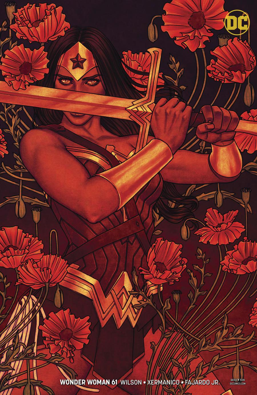 Wonder Woman Vol 5 #61 Cover B Variant Jenny Frison Cover