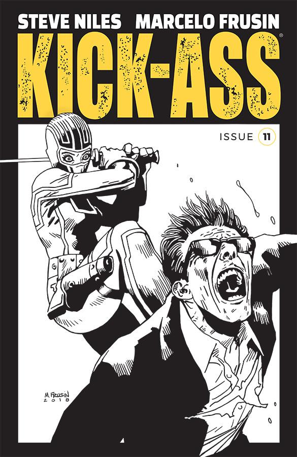 Kick-Ass Vol 4 #11 Cover B Variant Marcelo Frusin Sketch Cover