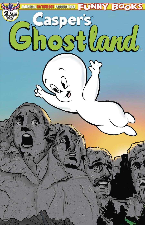 Caspers Ghostland Vol 2 #2 Cover B Variant Buz Hasson & Ken Haeser Mount Ghostmore Cover