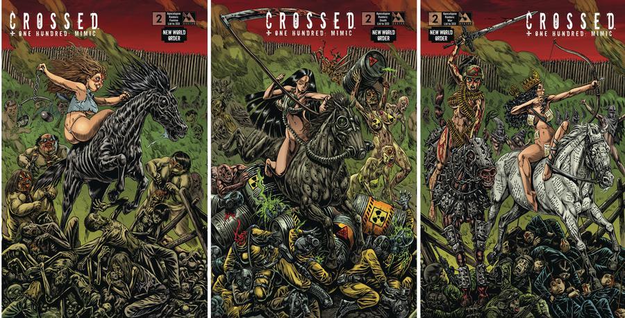 Crossed Plus 100 Mimic #2 New World Order Apocalypse Raiders (Set Of 3)