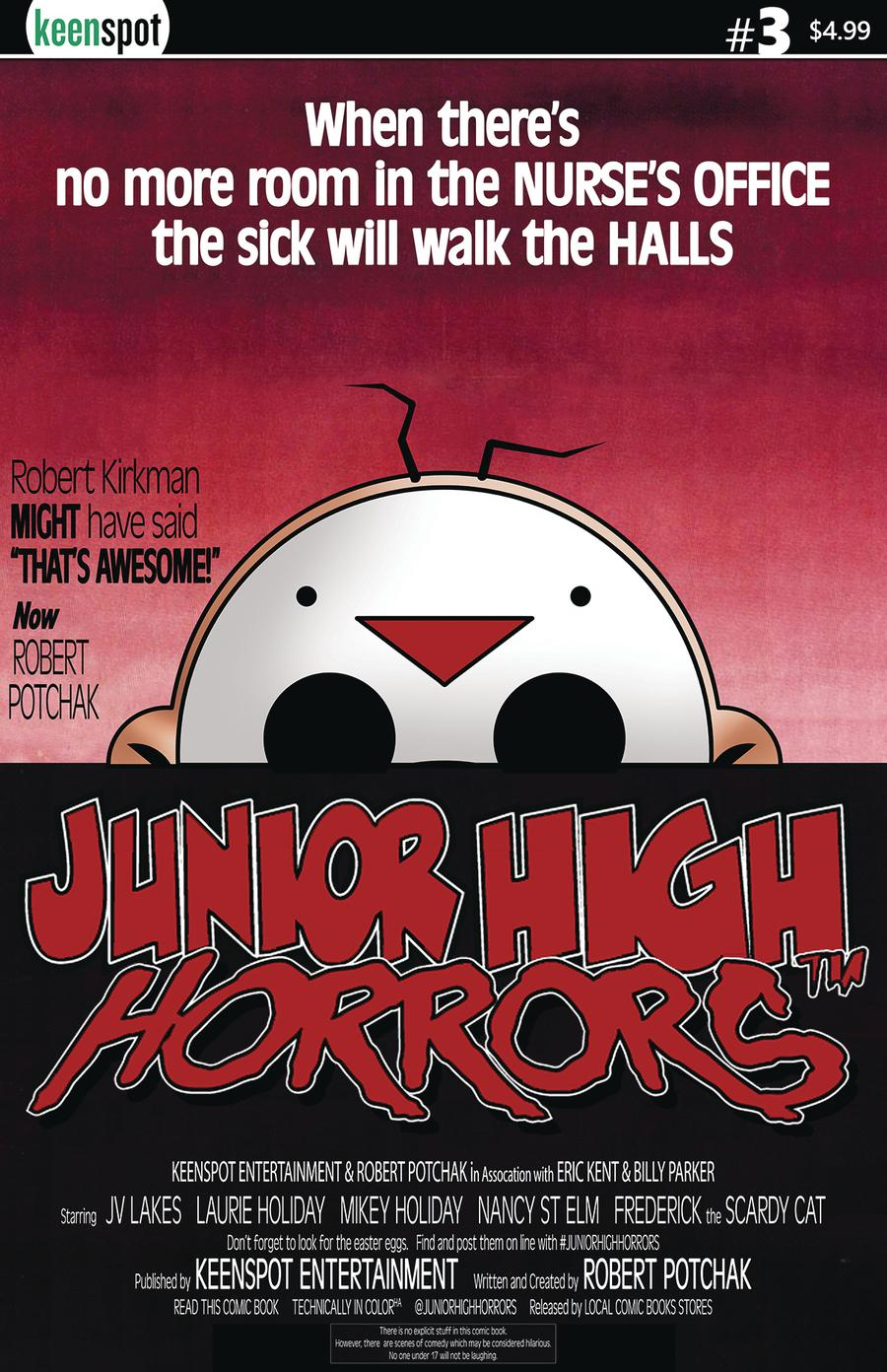 Junior High Horrors #3 Cover B Variant Billy Parker Dawn Of The Dead Parody Cover