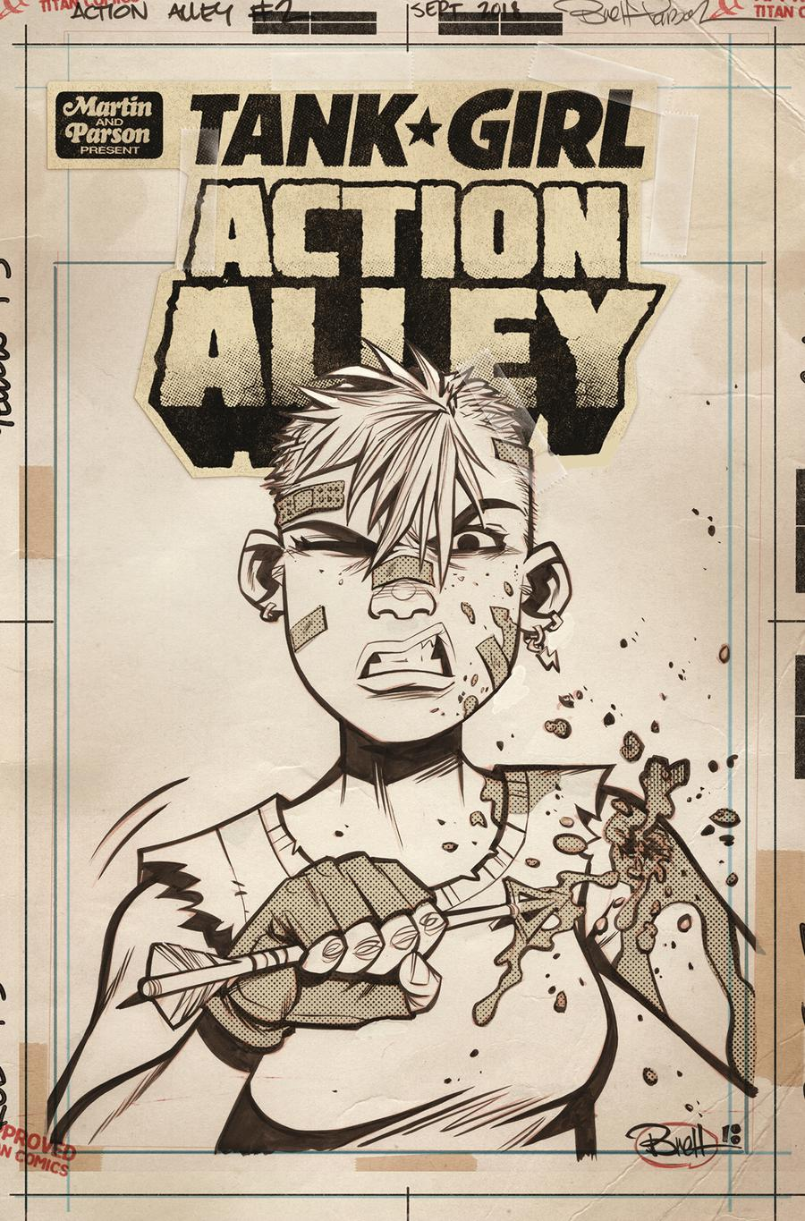 Tank Girl Vol 3 #2 Action Alley Cover C Variant Brett Parson Artist Edition Cover