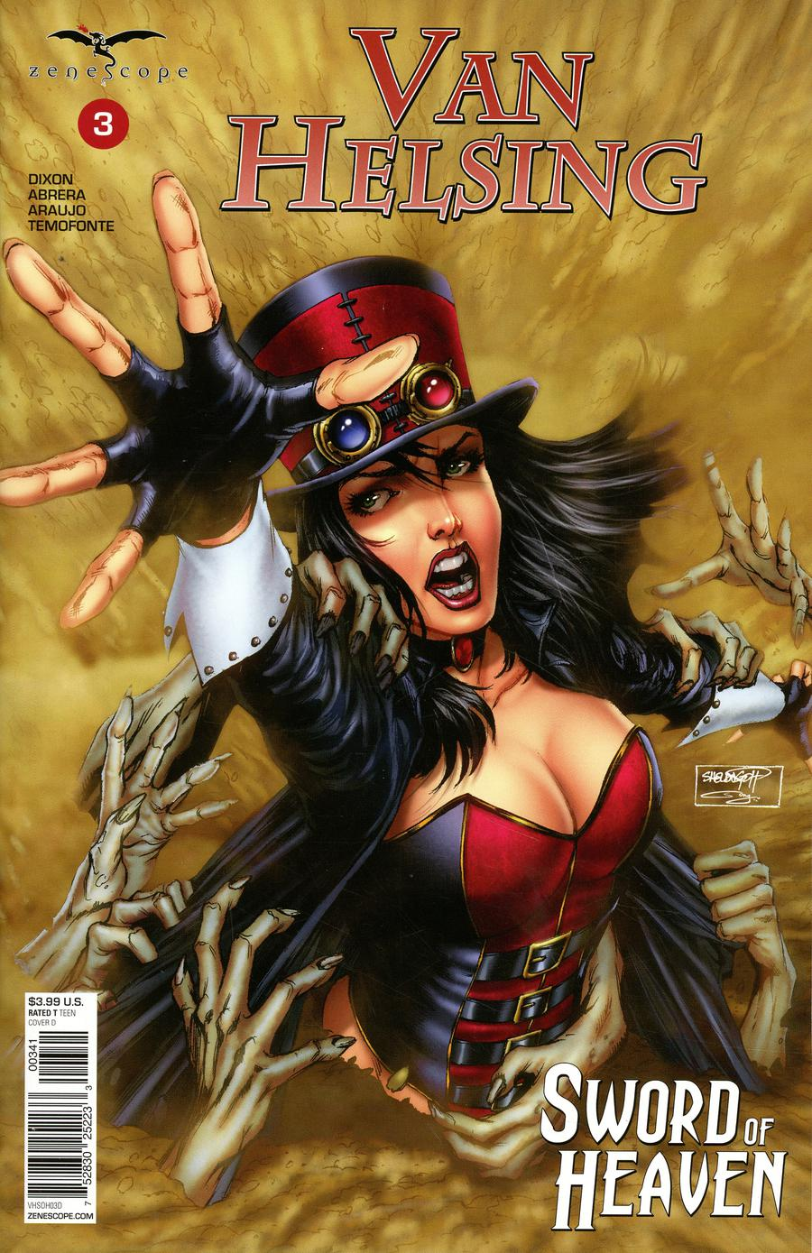 Grimm Fairy Tales Presents Van Helsing Sword Of Heaven #3 Cover D Sheldon Goh