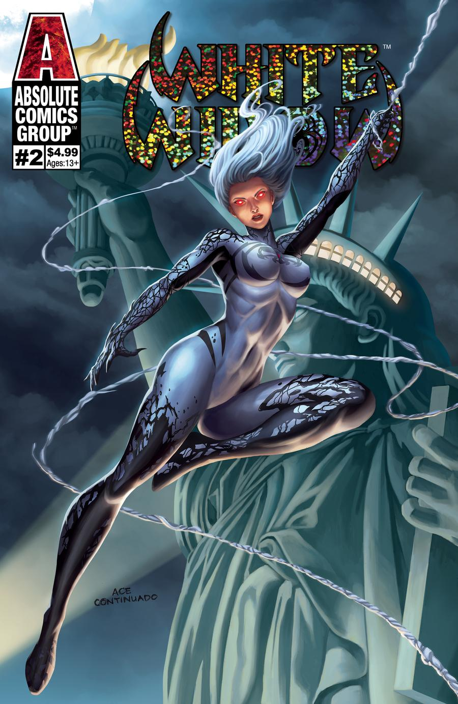 White Widow #2 Cover B 1st Ptg Variant Ace Continuado Foil Cover