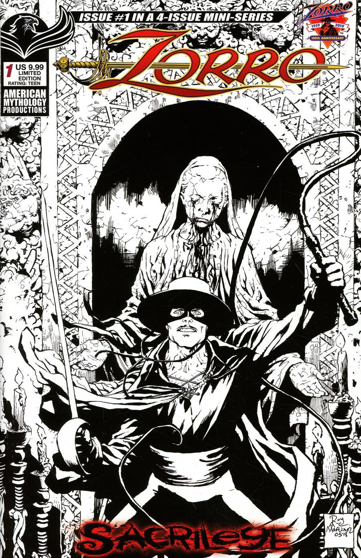 Zorro Sacrilege #1 Cover C Variant Roy Allen Martinez Visions Of Zorro Limited Edition Cover