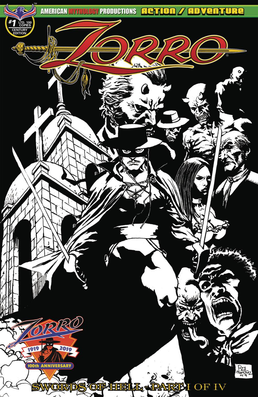 Zorro Swords Of Hell #1 Cover F Variant Century Edition Cover