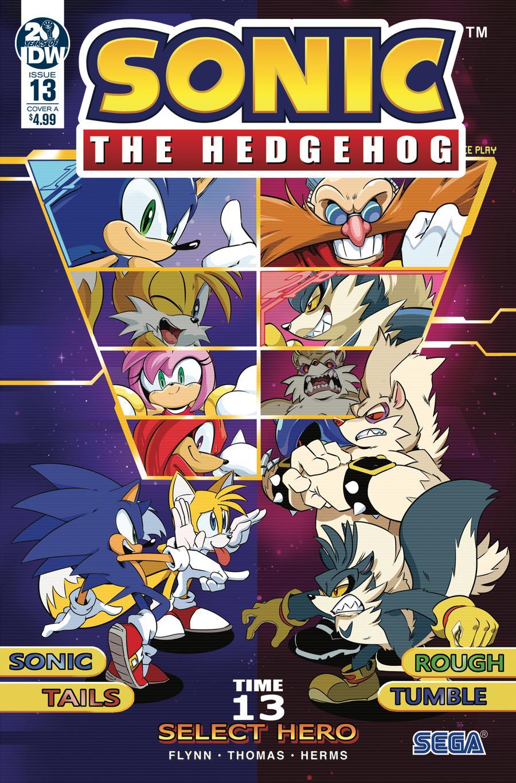 Sonic The Hedgehog Vol 3 #13 Cover A Regular Adam Bryce Thomas Cover