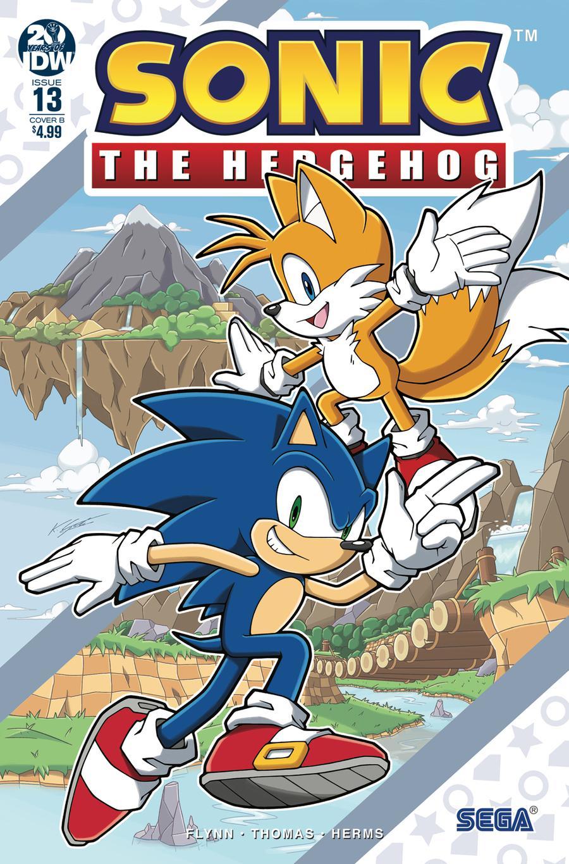 Sonic The Hedgehog Vol 3 #13 Cover B Variant Kieran Gates Cover