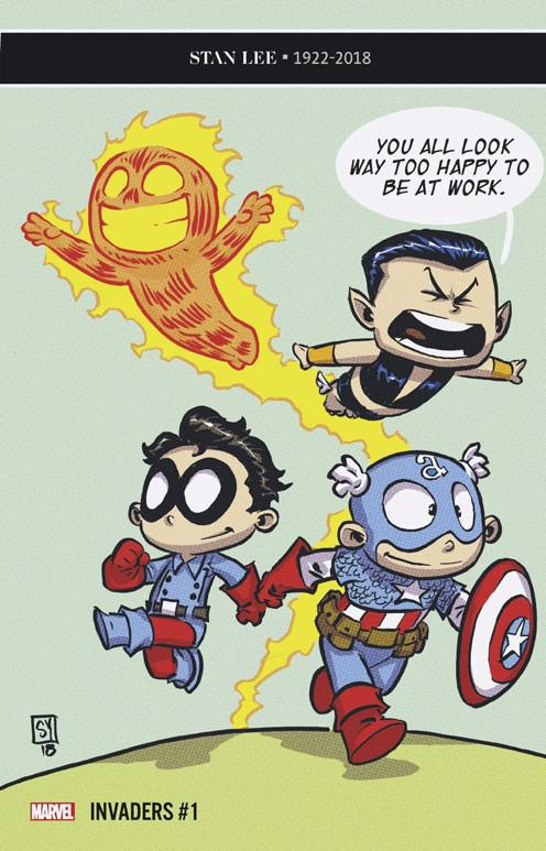 Invaders Vol 3 #1 Cover E Variant Skottie Young Baby Cover