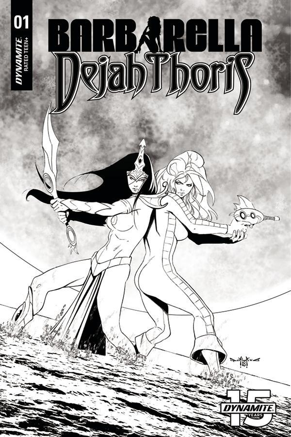 Barbarella Dejah Thoris #1 Cover L Incentive Pasquale Qualano Black & White Cover