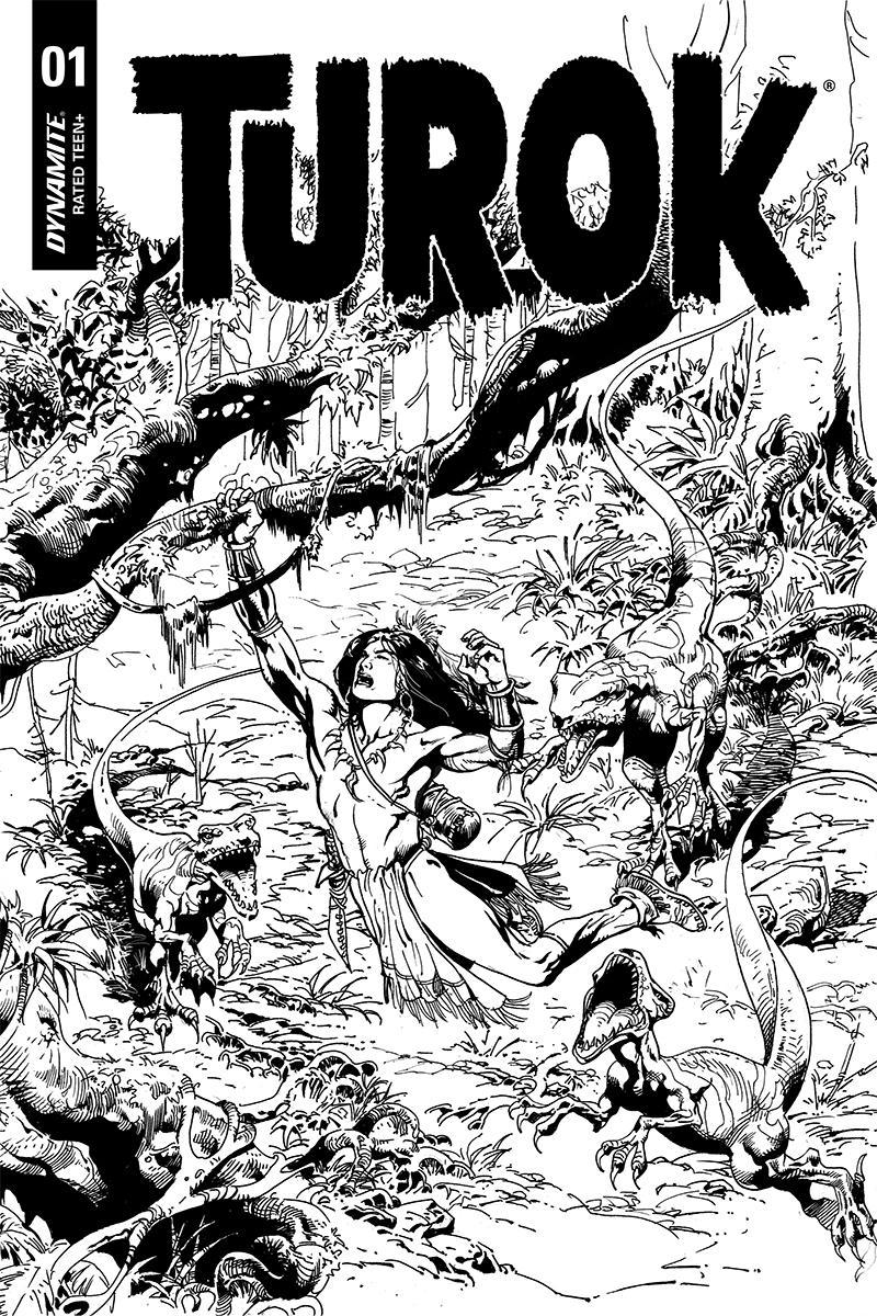 Turok Vol 3 #1 Cover I Incentive Roberto Castro Black & White Cover