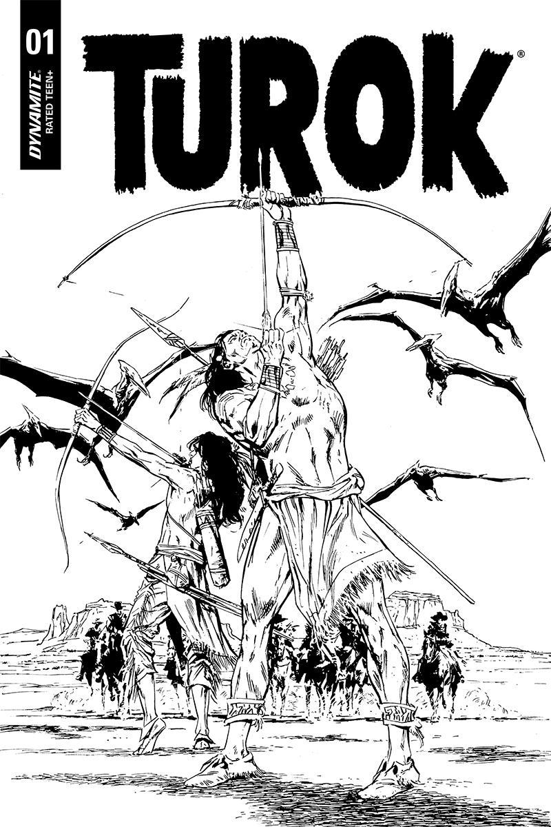 Turok Vol 3 #1 Cover J Incentive Butch Guice Black & White Cover