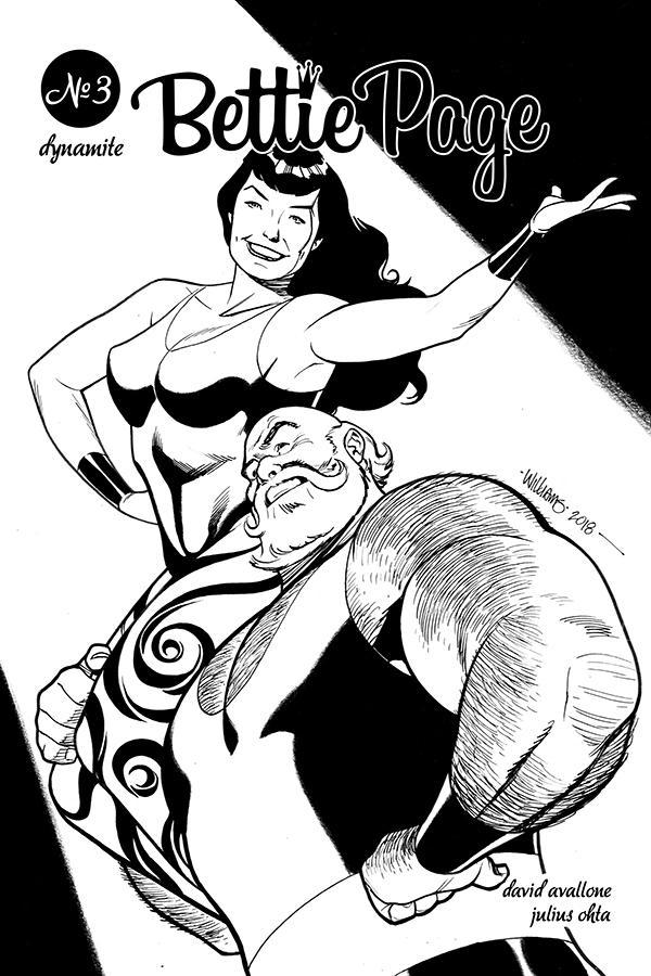 Bettie Page Vol 2 #3 Cover G Incentive David Williams Black & White Cover