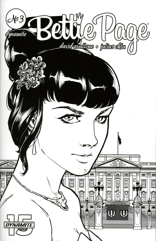 Bettie Page Vol 2 #3 Cover I Incentive Julius Ohta Black & White Cover