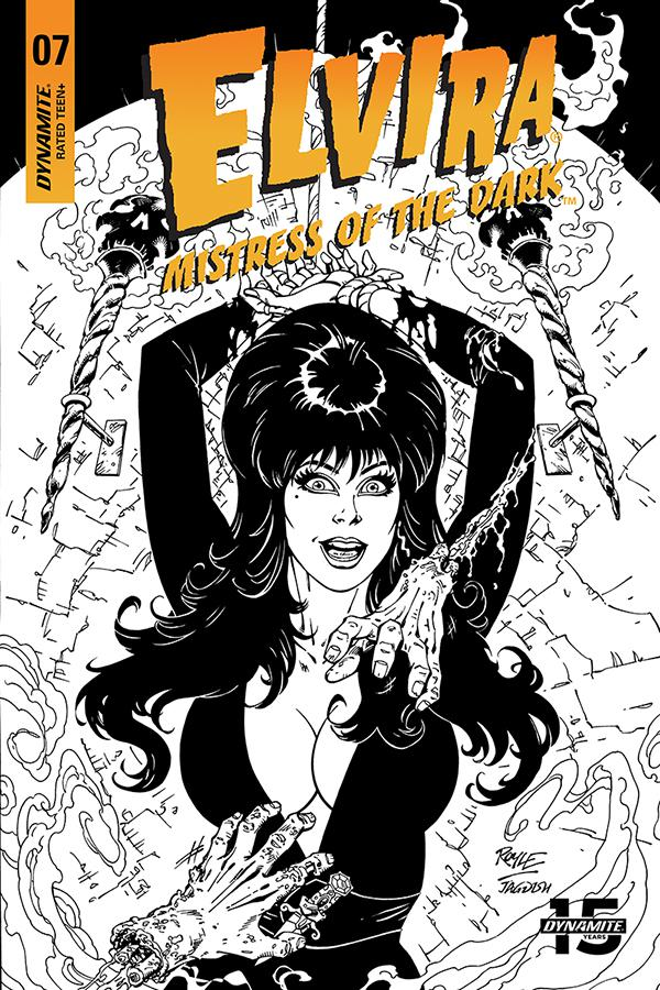 Elvira Mistress Of The Dark Vol 2 #7 Cover H Incentive John Royle Black & White Cover