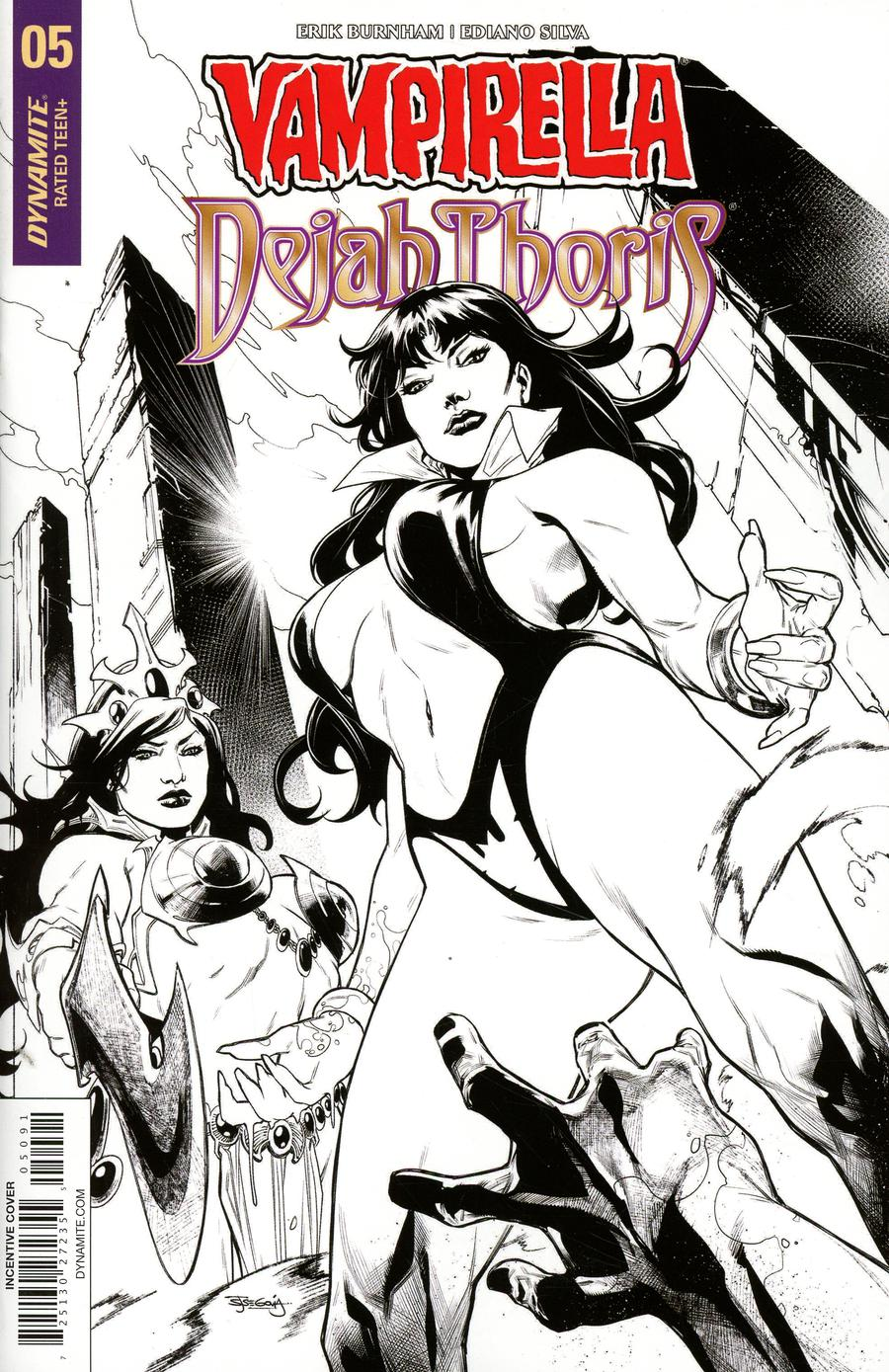 Vampirella Dejah Thoris #5 Cover I Incentive Stephen Segovia Black & White Cover