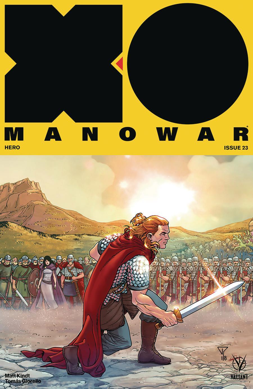 X-O Manowar Vol 4 #23 Cover E Incentive Francis Portela Interlocking Variant Cover