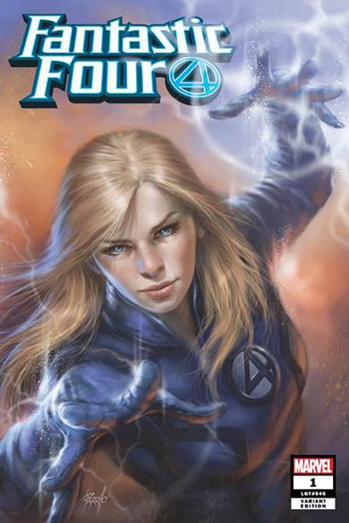 Fantastic Four Vol 6 #1 Cover Z-J DF Comicxposure Exclusive Lucio Parrillo Hero Variant Cover