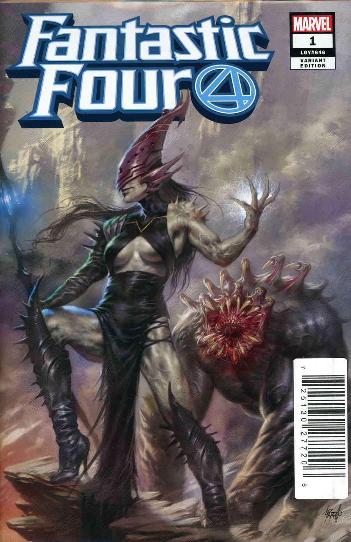 Fantastic Four Vol 6 #1 Cover Z-K DF Comicxposure Exclusive Lucio Parrillo Villain Variant Cover