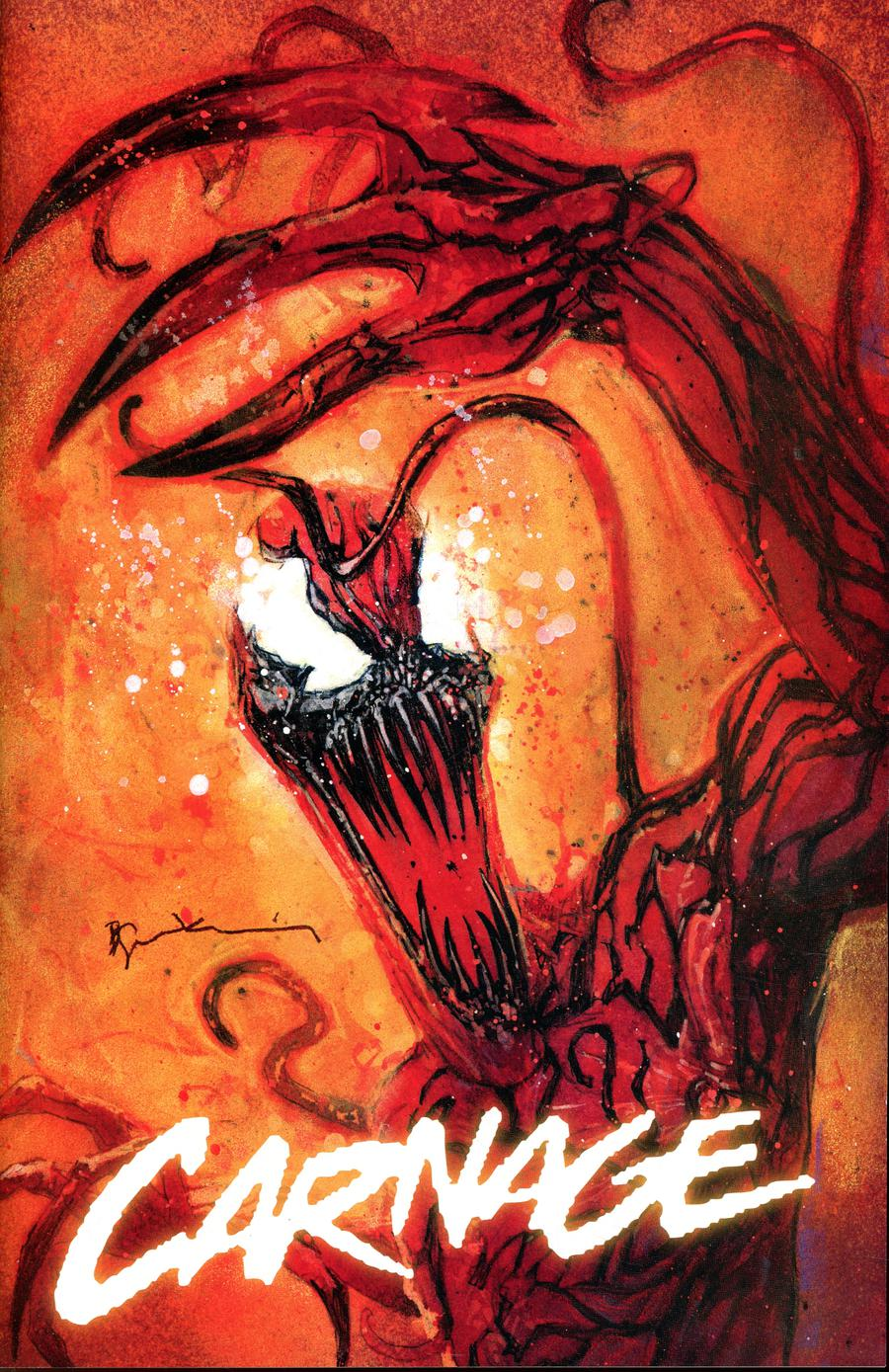 Web Of Venom Carnage Born #1  Midtown Exclusive Bill Sienkiewicz Variant Cover