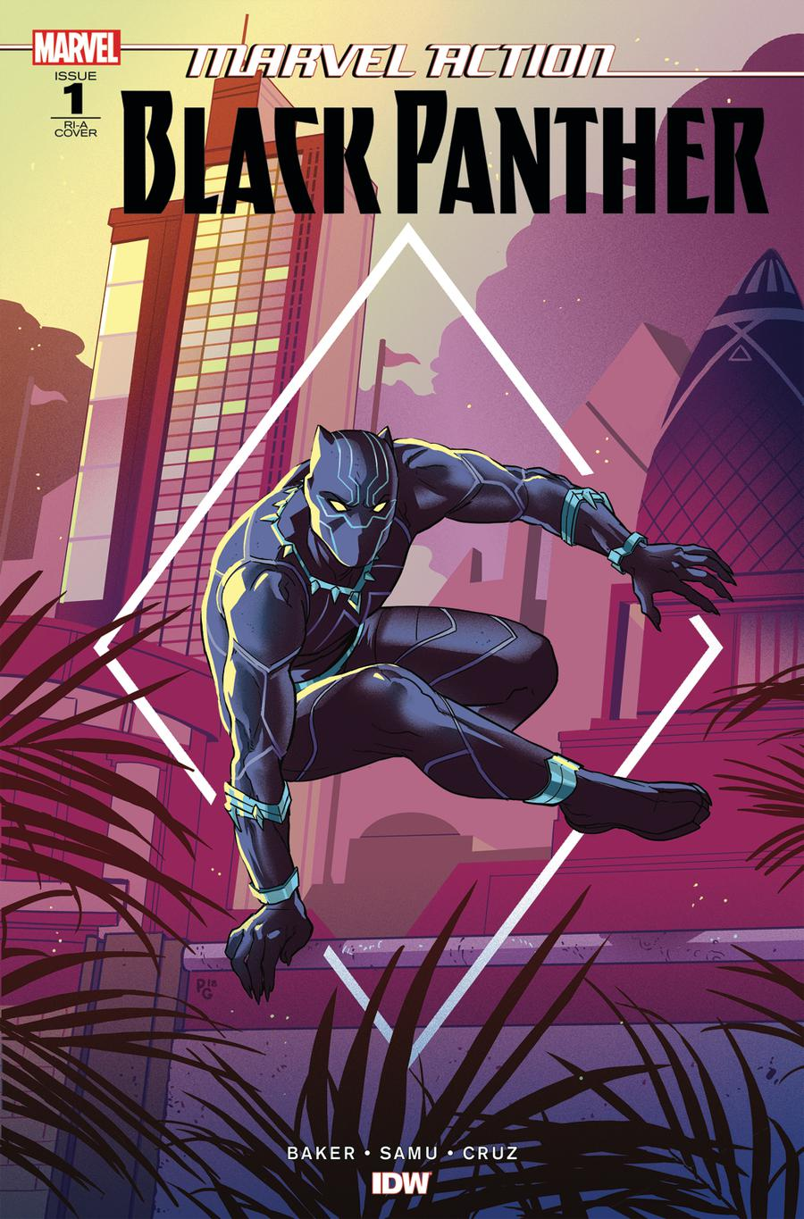 Marvel Action Black Panther #1 Cover B Incentive Paulina Ganucheau Variant Cover