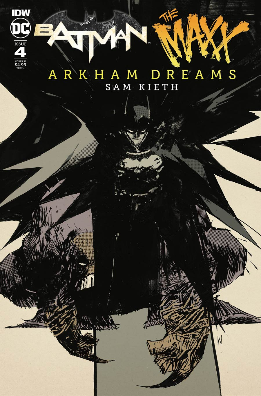 Batman The MAXX Arkham Dreams #4 Cover C Incentive Ashley Wood Variant Cover
