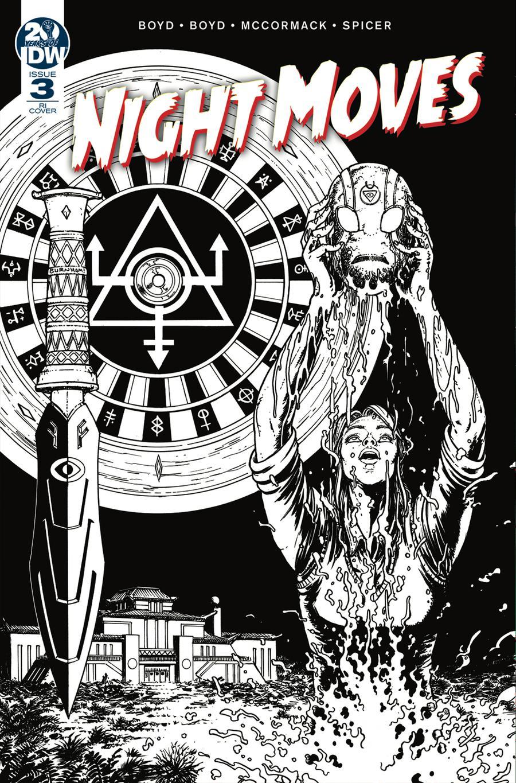 Night Moves #3 Cover B Incentive Chris Burnham Sketch Cover