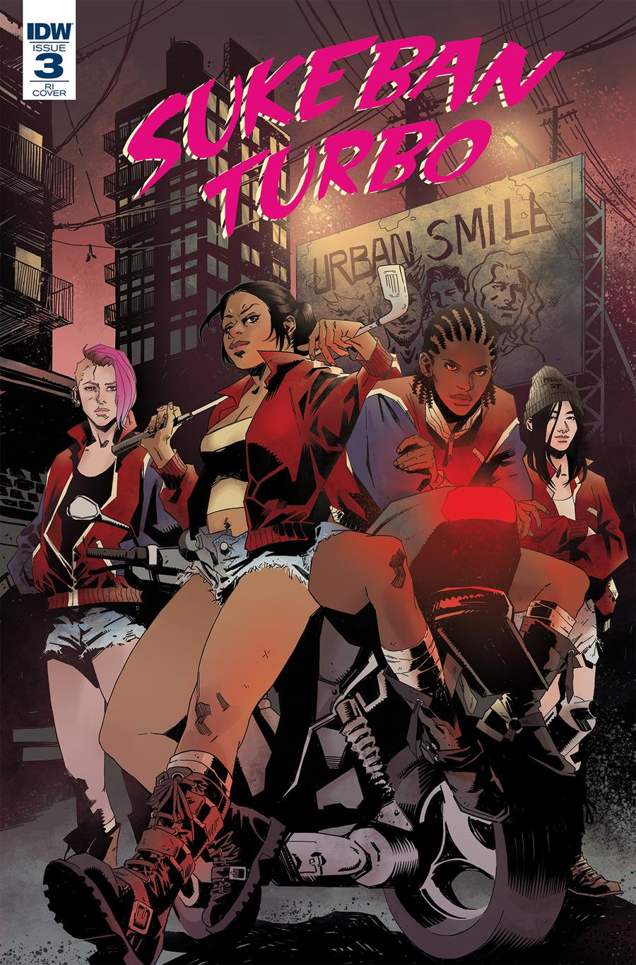 Sukeban Turbo #3 Cover B Incentive Claire Roe Variant Cover