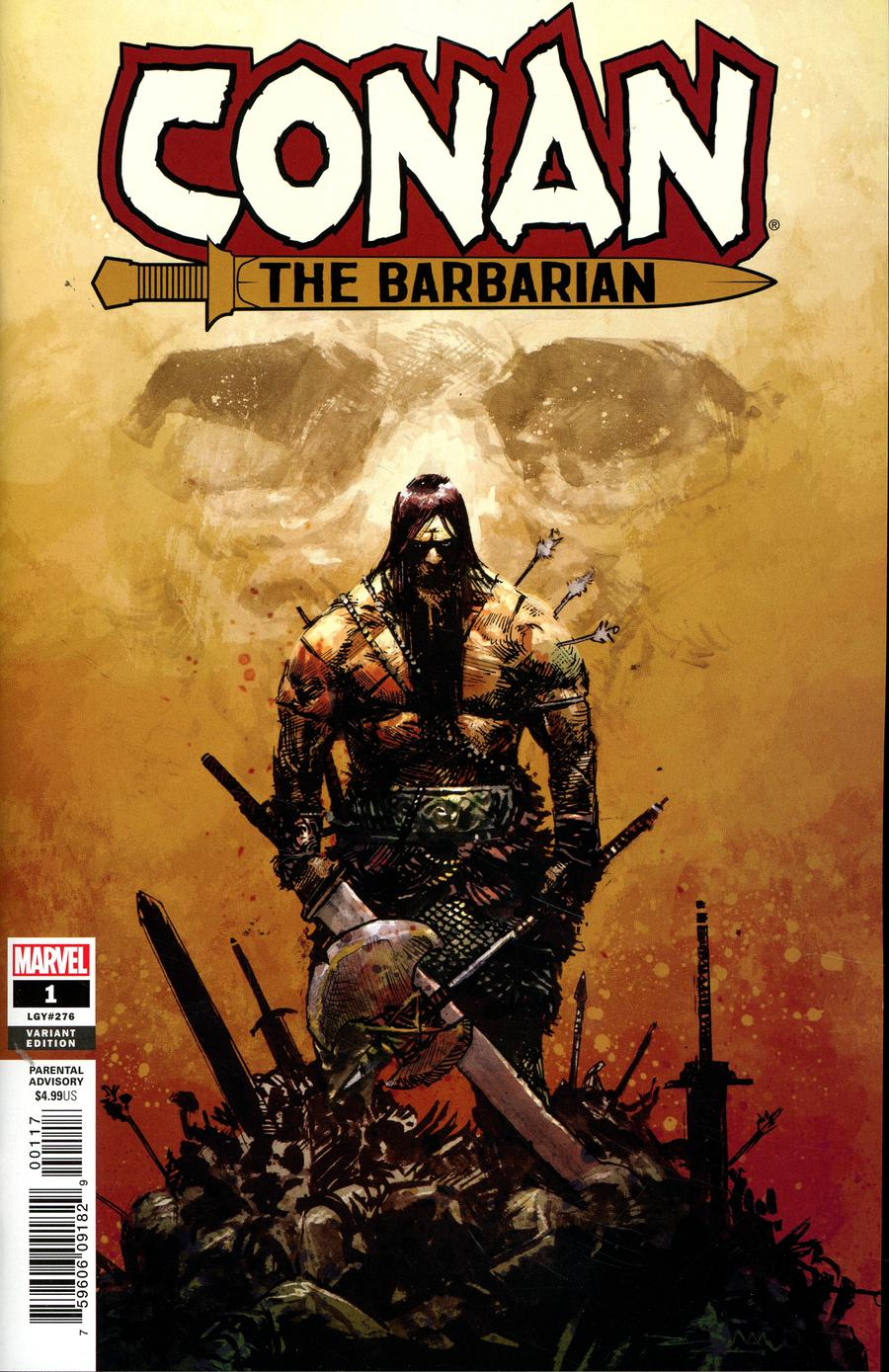 Conan The Barbarian Vol 4 #1 Cover K Incentive Gerardo Zaffino Variant Cover