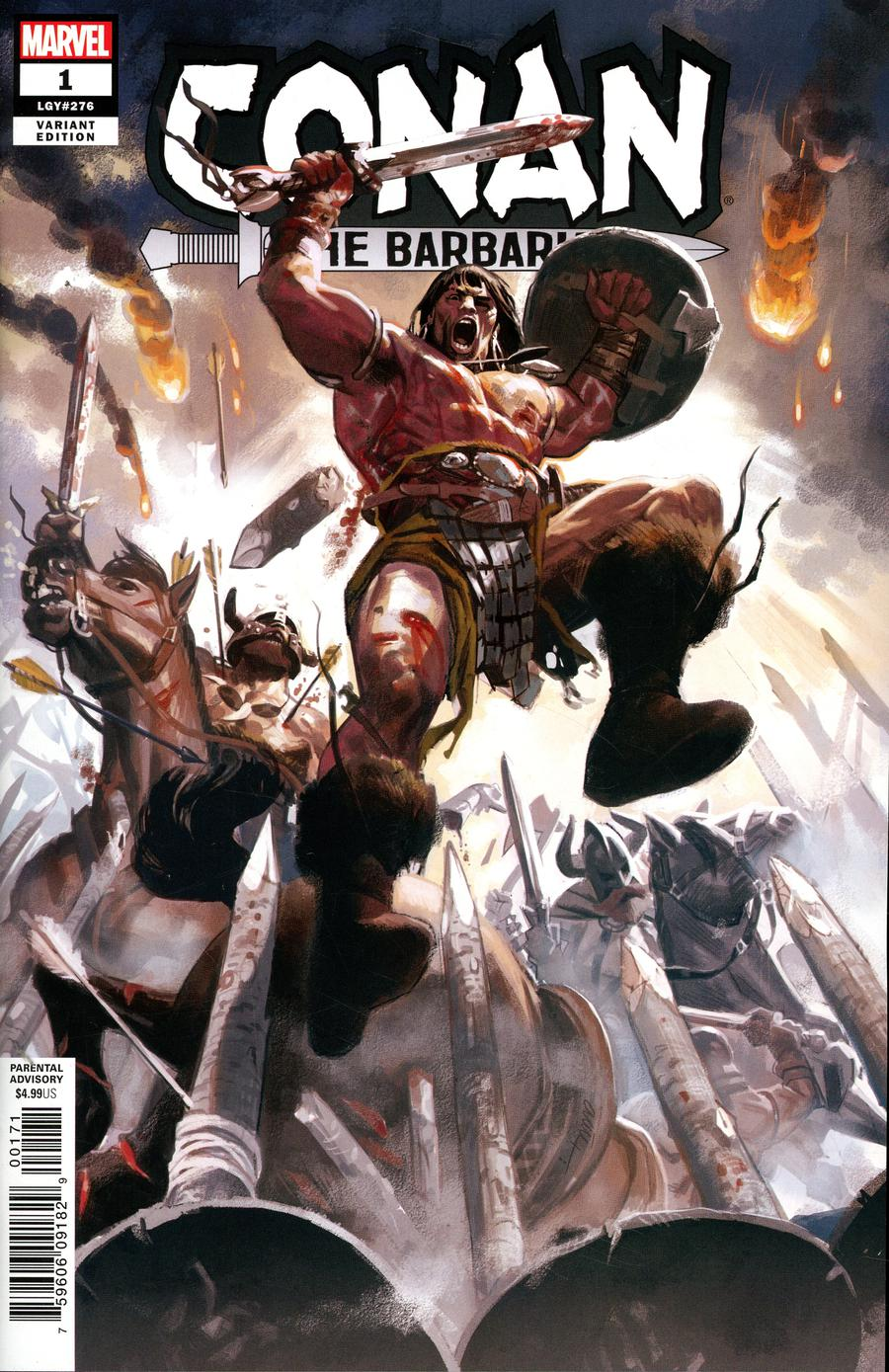Conan The Barbarian Vol 4 #1 Cover J Incentive Daniel Acuna Variant Cover