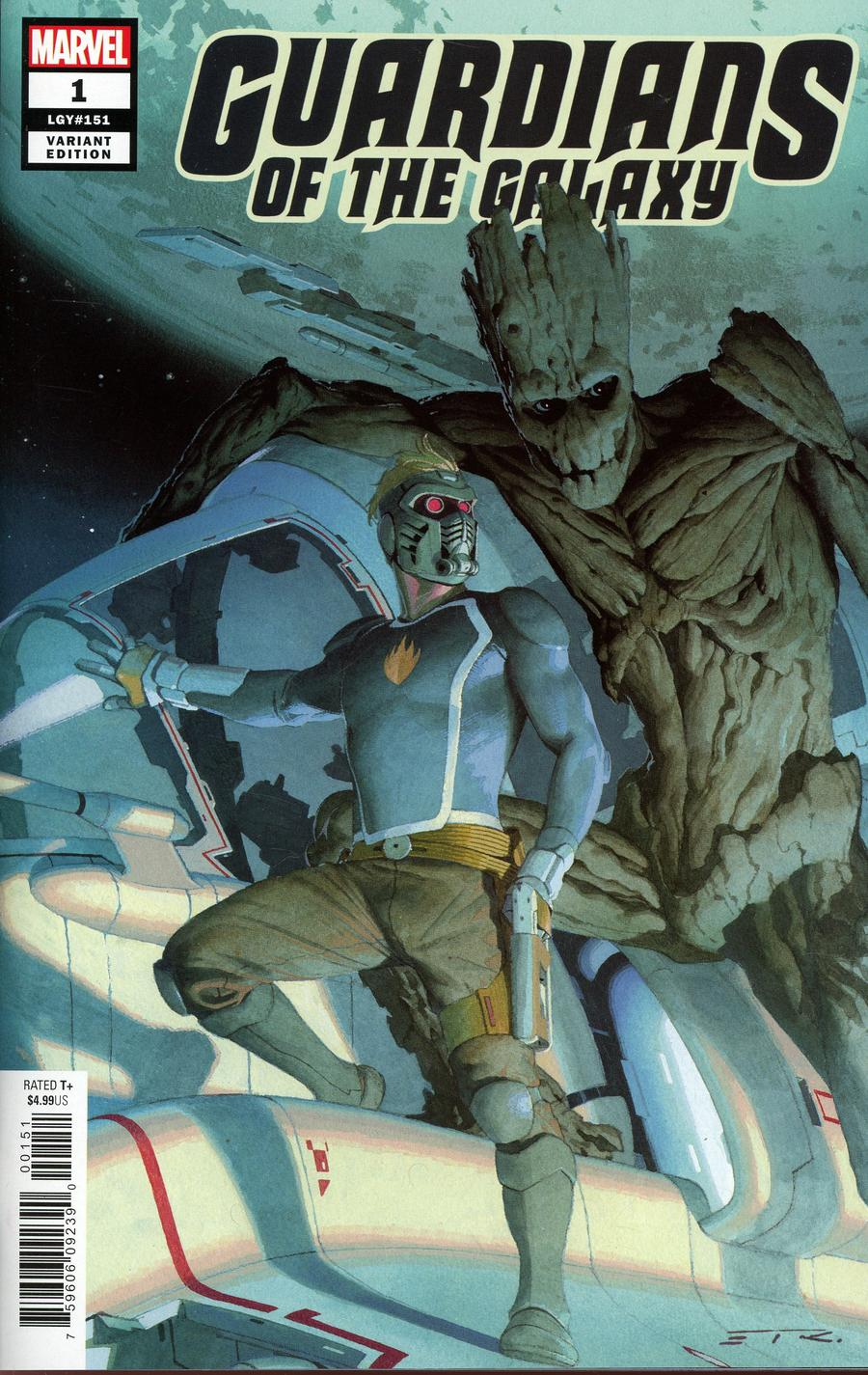 Guardians Of The Galaxy Vol 5 #1 Cover J Incentive Esad Ribic Variant Cover