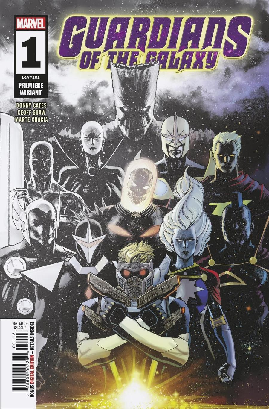 Guardians Of The Galaxy Vol 5 #1 Cover K Incentive David Marquez Premiere Variant Cover