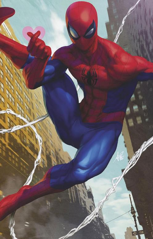 Friendly Neighborhood Spider-Man Vol 2 #1 Cover I Incentive Stanley Artgerm Lau Virgin Cover