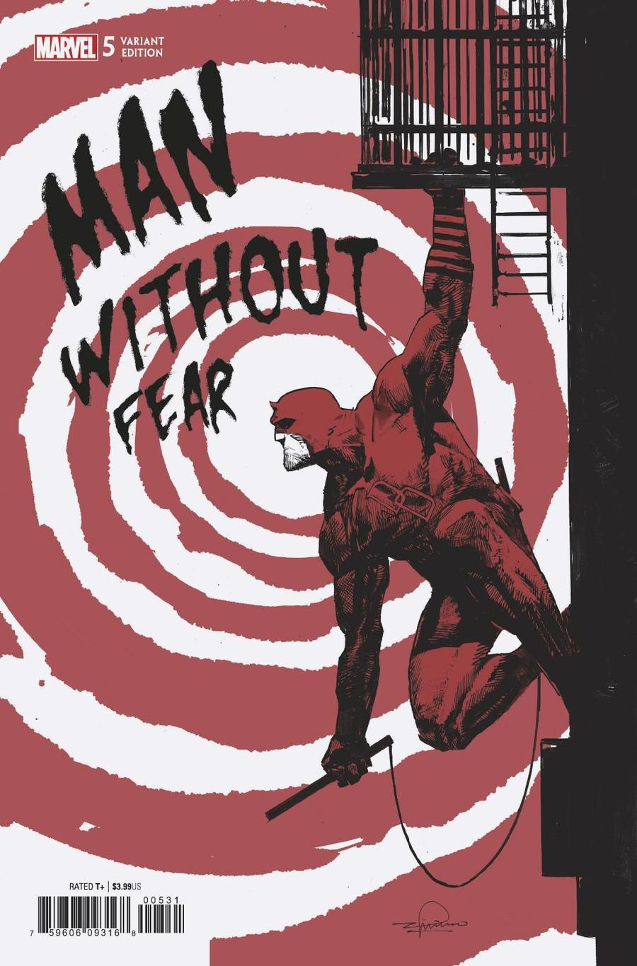 Man Without Fear #5 Cover C Incentive Gerardo Zaffino Variant Cover