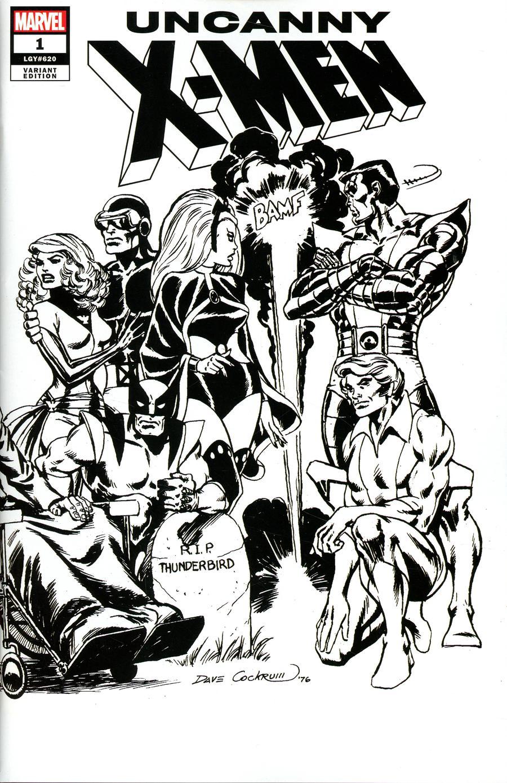Uncanny X-Men Vol 5 #1 Cover P Incentive Dave Cockrum Hidden Gem Wraparound Sketch Cover