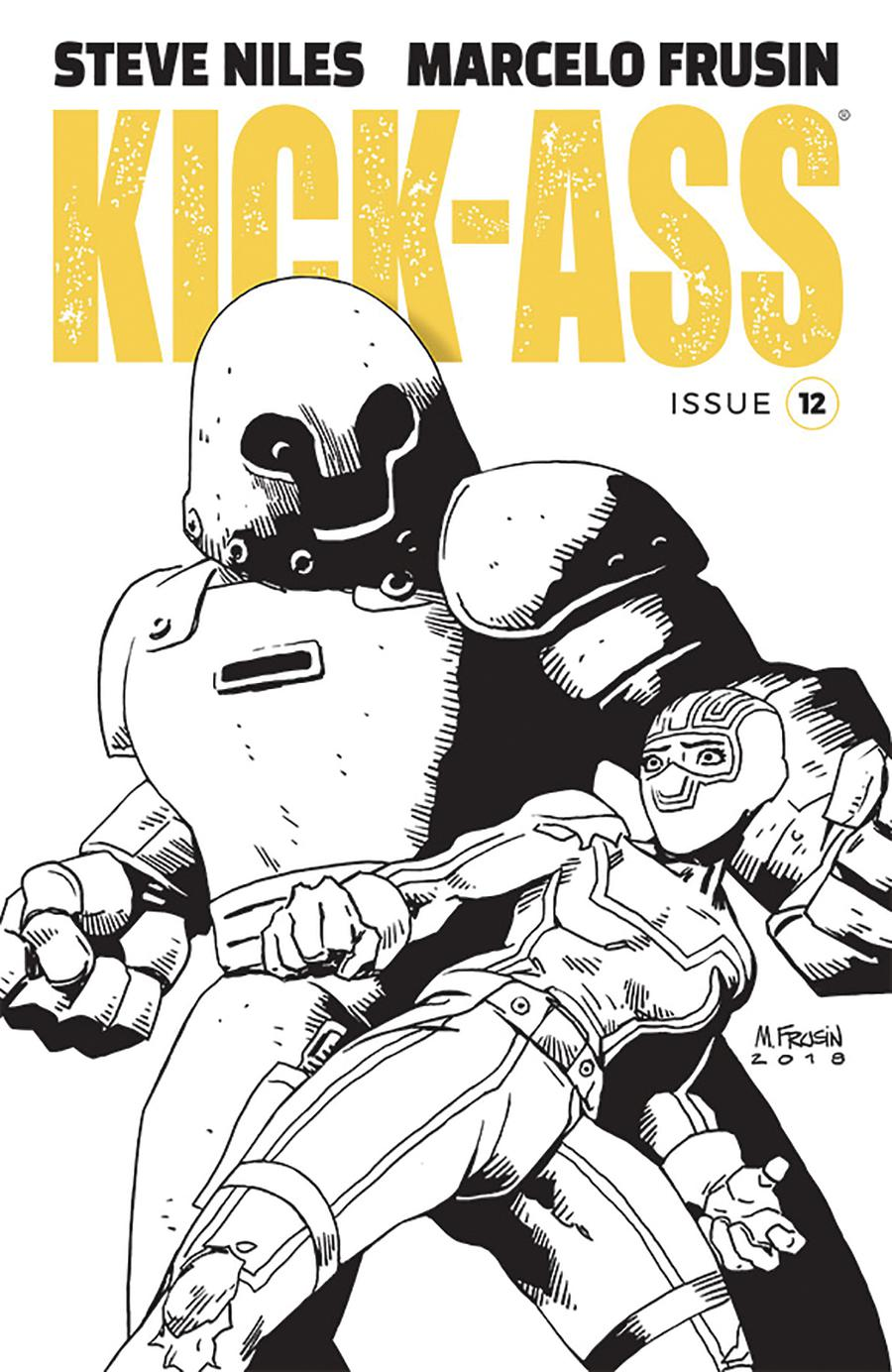 Kick-Ass Vol 4 #12 Cover B Variant Marcelo Frusin Sketch Cover