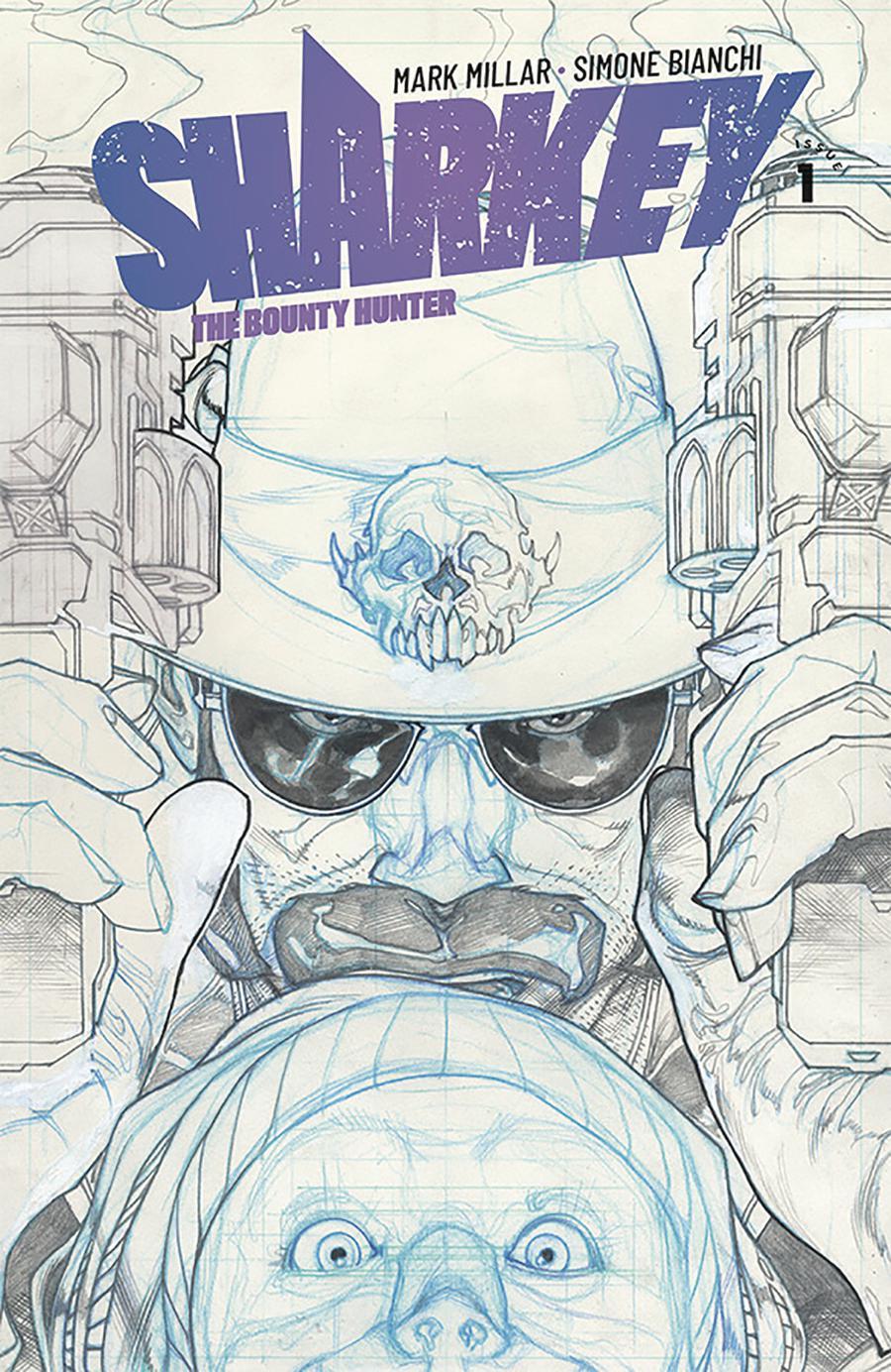 Sharkey The Bounty Hunter #1 Cover B Variant Simone Biachi Sketch Cover